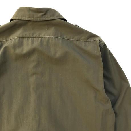 Made in USA / 80s L.L.Bean / Nylon Military Shirt / Khaki / Used