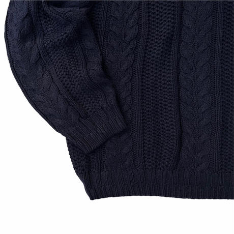 VAN HEUSEN / Pullover Cotton Blend Knit / Navy L / Used