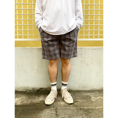Easy Check Shorts  / Grey×Blue M / Used