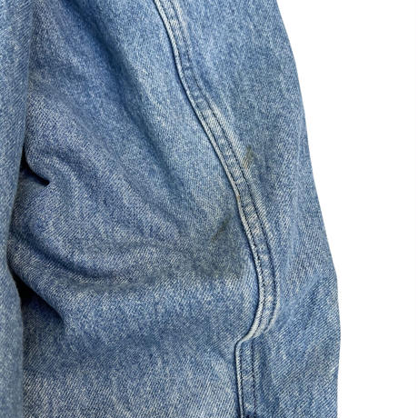 Made in USA / 80's L.L.Bean / Detachable Wool Lined Denim Hunting Coat / Indigo XXL / Used