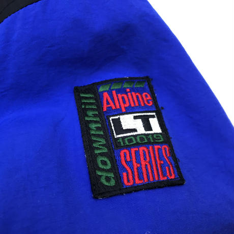 "OLD GAP / ""Alpine SERIES""Nylon Fleece Anorak / Black × Blue × Red / Used"