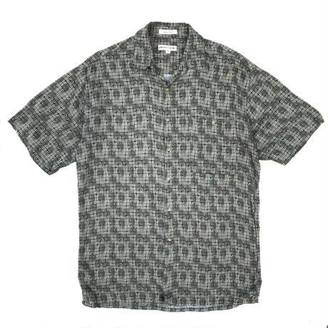 S/S Rayon Shirt / Gray × Black / Used