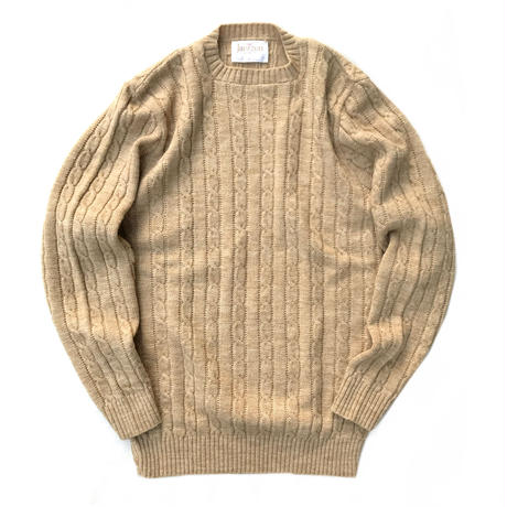 Made in USA / 70's Jantzen / Cable Knit Top / Beige / Used