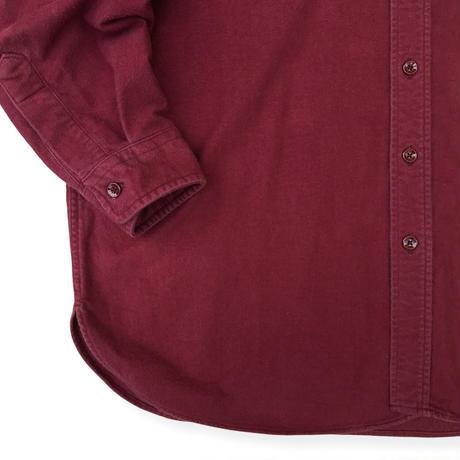 Made in USA / 80's L.L.Bean / Chamois Cloth Shirt / Burgundy 18(XXL) / Used