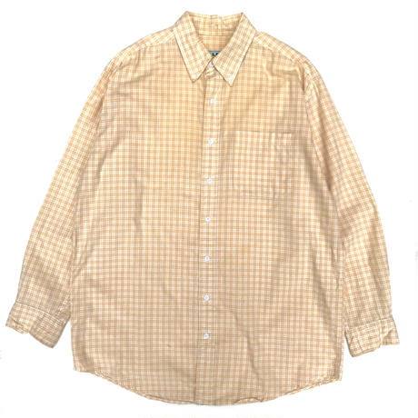 L.L.Bean / L/S B.D.Check Shirt / Yellow  / Used