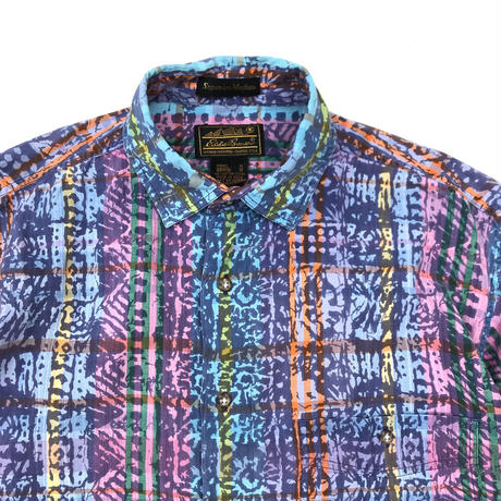 80s Eddie Bauer / S/S Cotton Shirt / 総柄 / Used