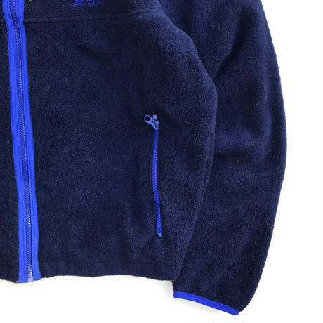 Made in USA / 80s L.L.Bean / Full Zip Fleece Jacket / Navy / Used