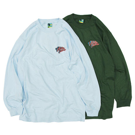 "Voyage / ""DOG"" Long Sleeve Tee / Ash , Lt Blue , Green , White"