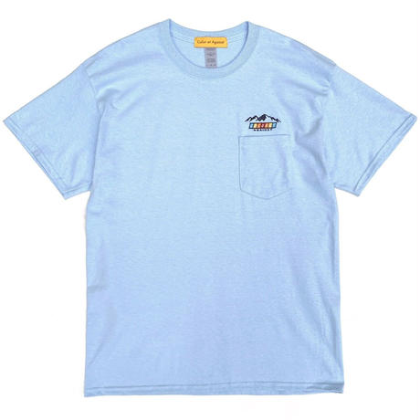Color at Against Originals /  Mountain Logo Tee / Ash , White , Sky