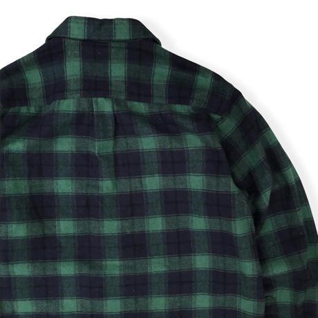 L.L.Bean / Checked Chamois Cloth Shirt / Green × Black M / Used