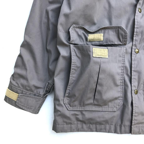 Made in USA / 70s Vintage Woolrich / Wool Lined Coach Jacket / Grey / Used