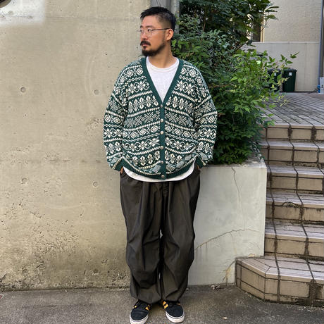 80-90's GAP / Cotton Cardigan / Forest L / Used