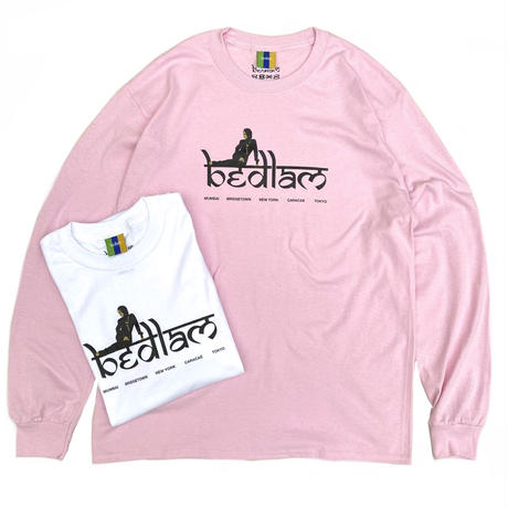 Bedlam / Relax L/S Tee / White , Pink