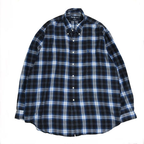 Polo Ralph Lauren / L/S Check Shirt /  Blue × White  / Used