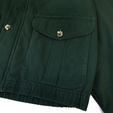 90s Eddie Bauer / Cotton Lined Hunting Jacket / Green / Used