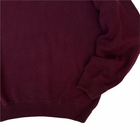 90's Eddie Bauer / Pullover Cotton Knit / Burgundy L / Used