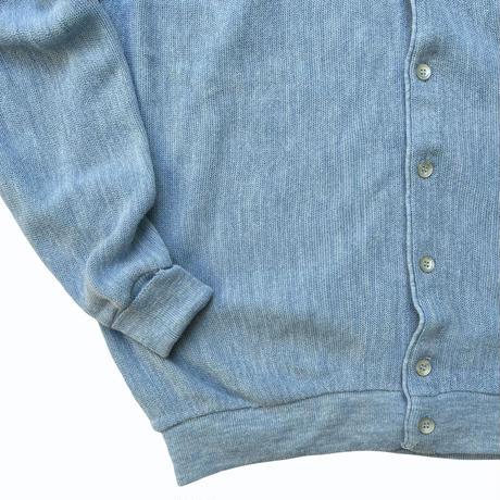 Made in USA / 80's Jantzen / Acrylic Cardigan / Lt.Blue 2X / Used