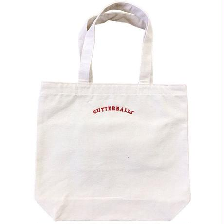 RWCHE / GUTTERBALLS TOTE BAG / NATURAL × RED