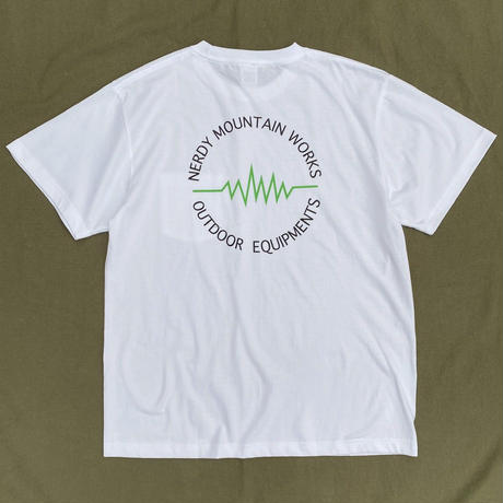 NERDY MOUNTAIN WORKS / CIRCLE LOGO TEE / Green Logo