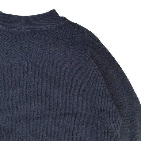 00s L.L.Bean / Pullover Cotton Rib Knit Sweater / Navy / Used
