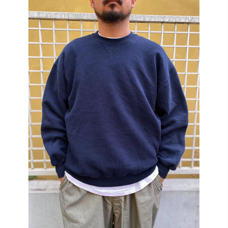 Made in USA / 90's Russell Athletic / Solid Sweat / Navy XL / Used