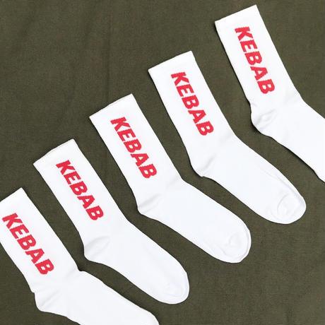 """""""KEBAB"""" Socks  / White"""