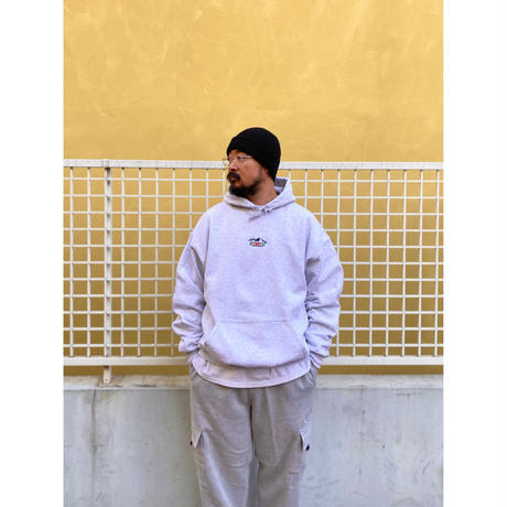 Color at Against Originals / Mountain Logo Hoodie / Ash
