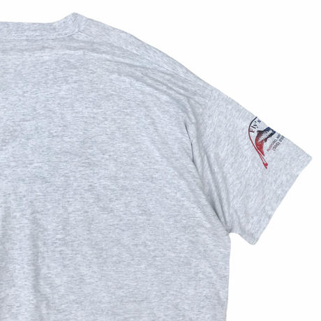Made in USA / 90's FRUIT OF THE LOOM / Fly Tee / Ash / Used