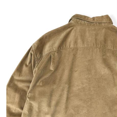 00's GAP / 2Pocket Cotton Shirt / Beige / Used