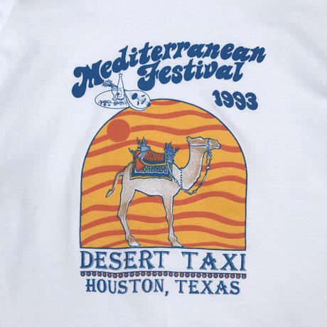 Made in USA / 90's Festival Desert Taxi Tee / White / Used