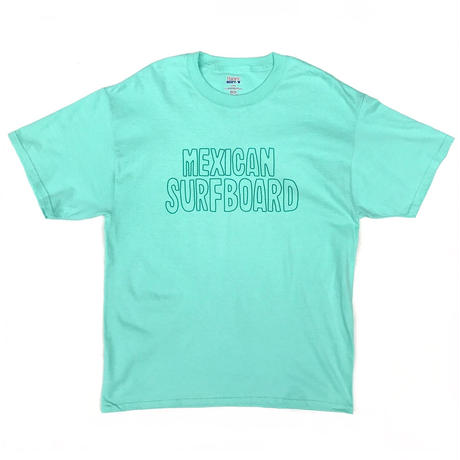Tacoride  / MEXICAN SURFBOAD TEE / Mint ,Coral
