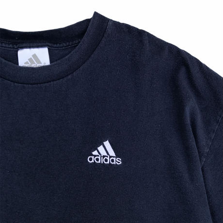 adidas / One Point Embroidered Tee / Navy / Used