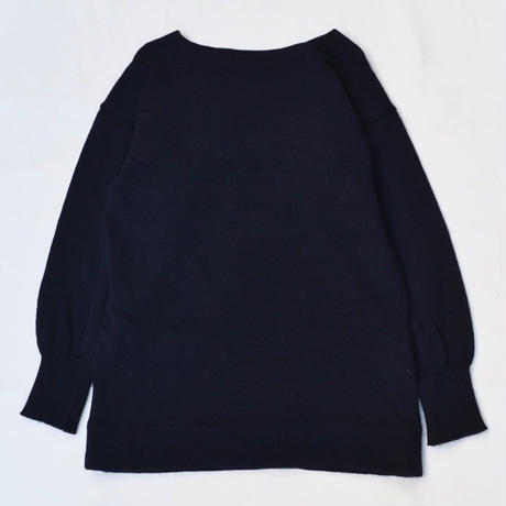90s Royal Navy wool sweater dead stock / NAVY