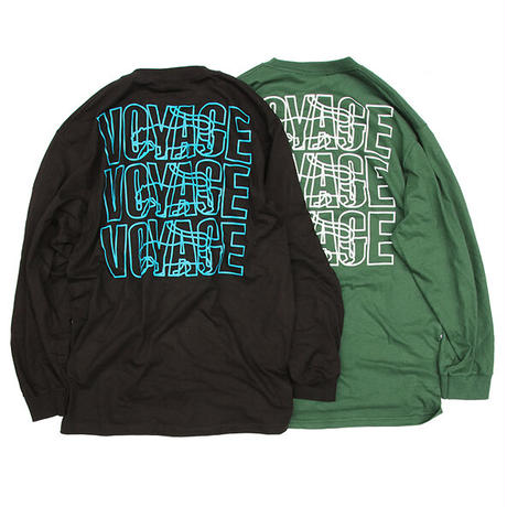 "Voyage / ""PARIS"" Long Sleeve Tee / Blue , Green , White , Black"