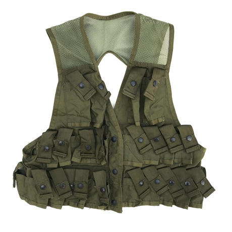 80s Dead Stock US ARMY / Nylon Tactical Vest / Olive
