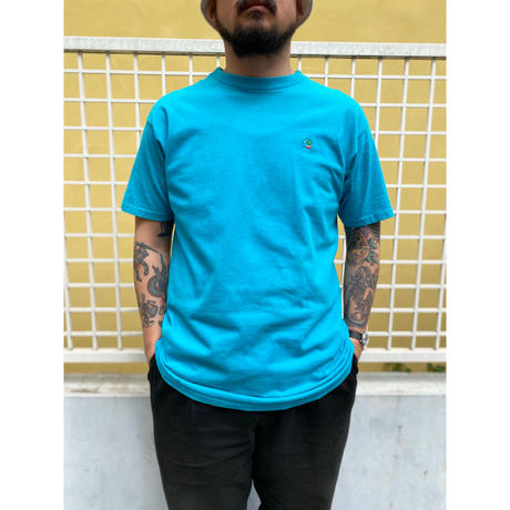 Made in USA / 90's Duck Head / One Point Logo Tee / Sky / Used
