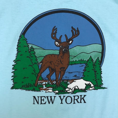 "Made in USA / 90s ""New York"" Tee / White / Used"