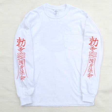 謎 NO BRAND / KYONSHIE L/S TEE  / WHITE