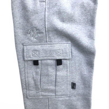 Color at Against ORIGINALS / C&C Embroidered Sweat Cargo Pants / Heather Grey