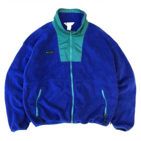90s Columbia / Full Zip Fleece Jacket / Blue / Used