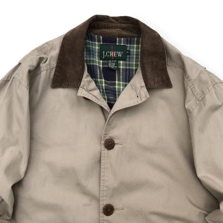 90's J.CREW / Check Lined Hunting Coat / Beige S(M-L程度) / Used