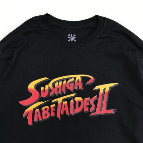 SUSHIGA TABETAIDES  / SUSHIGA TABETAIDES II L/S Tee / White , Black