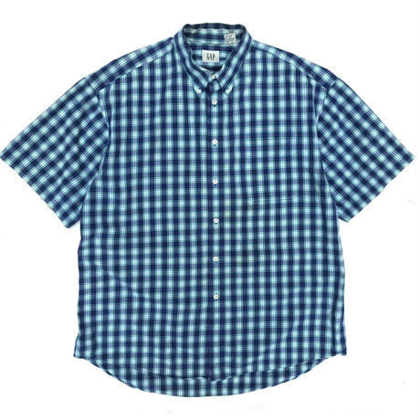 OLD GAP / S/S B.D Shirt / Blue Check / Used