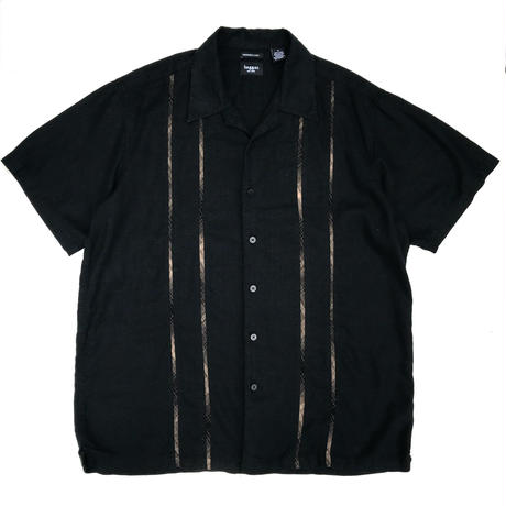 S/S Open Collar Shirt / Black / Used