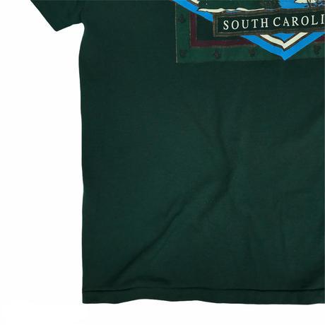 Made in USA / 90's South Carolina Nature Tee / Olive / Used