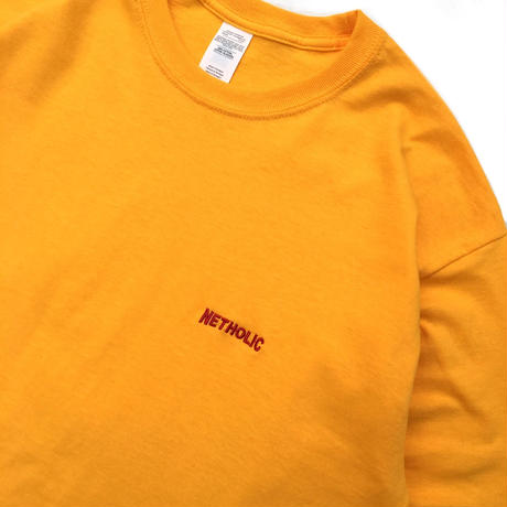"Color at Against ORIGINALS / ""NETHOLIC"" Long Sleeve  TEE / Yellow × Red"