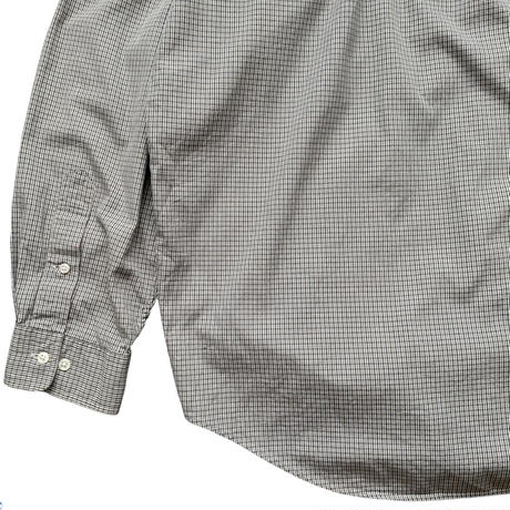 """90's Raph Lauren / Cotton Checked B.D Shirt """"YARMOUTH"""" / Olive / Used"""