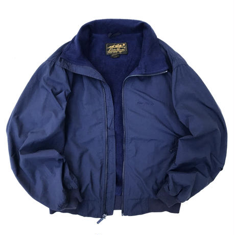 Made in USA / 80s Eddie Bauer / Fleece Lined Jacket / Navy / Used