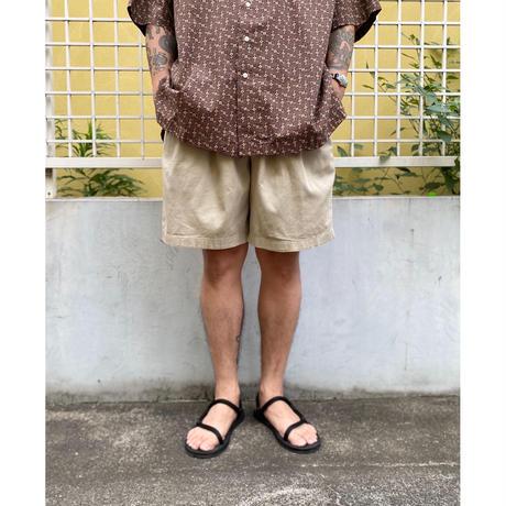 90's EBTEK by Eddie Bauer / Cotton 2Tuck Shorts / Beige / Used(36)