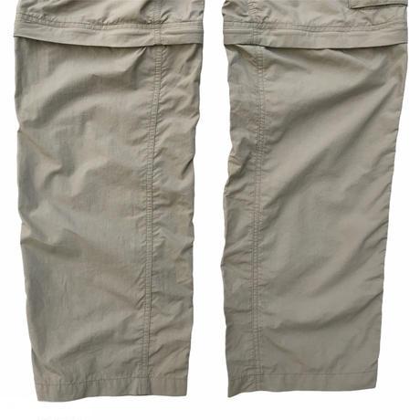 00's Columbia / Nylon Rip Stop 2Way Cargo PANTS / Beige / Used